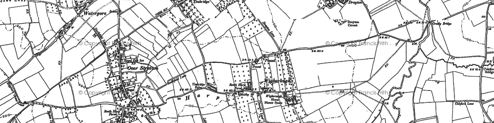 Old map of Yeabridge in 1886