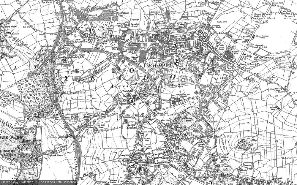 Map of Yeadon, 1891