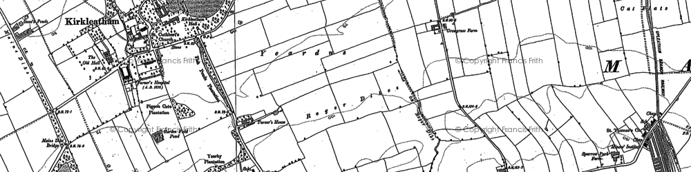 Old map of Yearby Wood in 1913