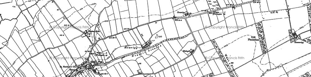 Old map of Yearngill in 1899