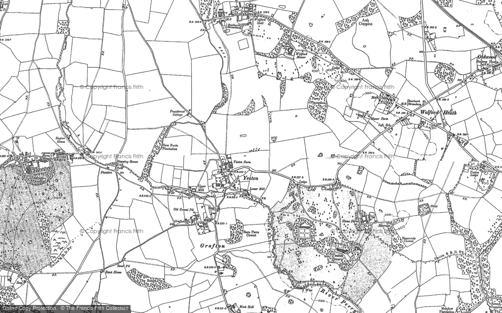 Old Map of Historic Map covering Adcote Mill in 1880