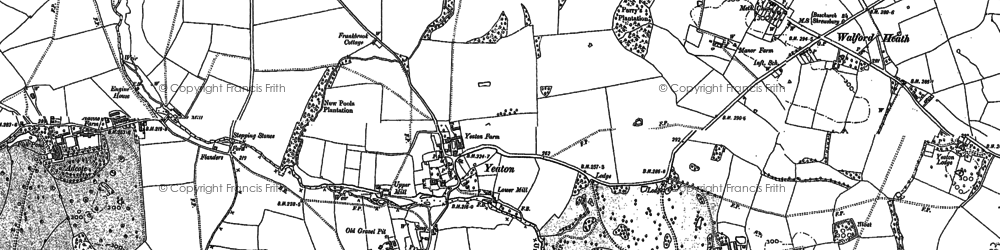 Old map of Yeaton in 1880