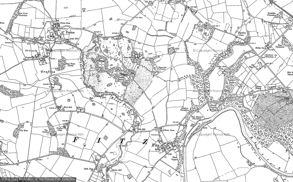 Old Map of Yeaton Peverey, 1880 - 1881 in 1880
