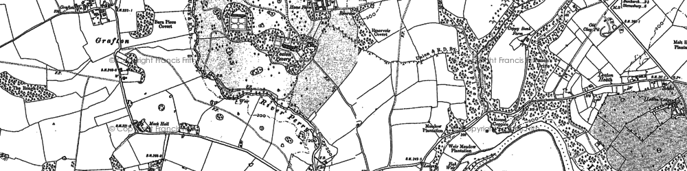 Old map of Yeaton Peverey in 1880
