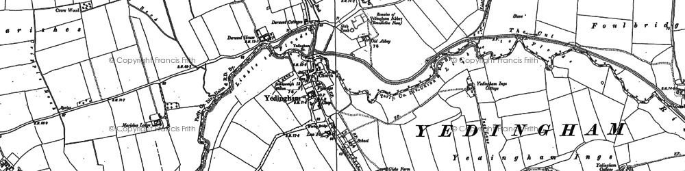 Old map of Westfield in 1889