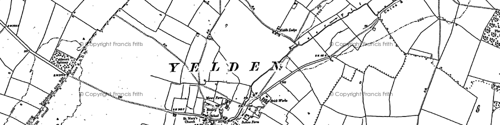 Old map of Yelden in 1899