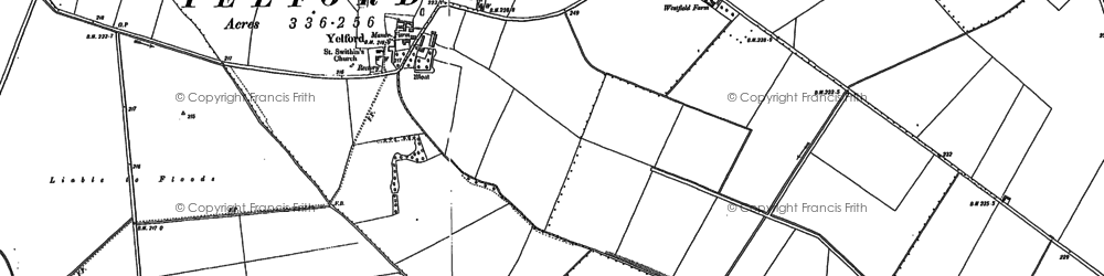 Old map of Yelford in 1898