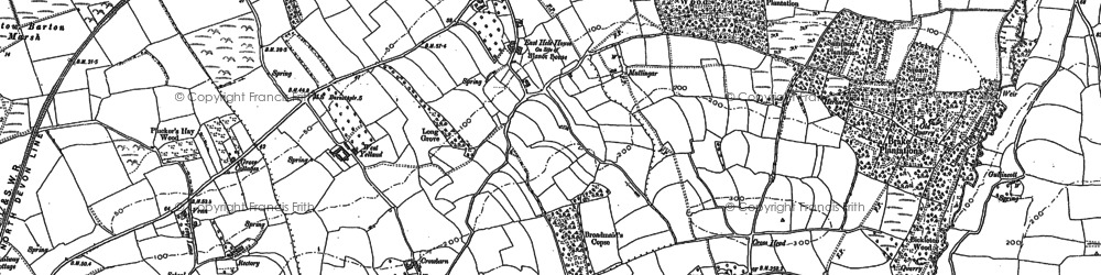 Old map of Yelland in 1903
