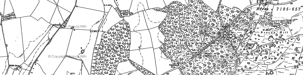 Old map of Yellowham Wood in 1887