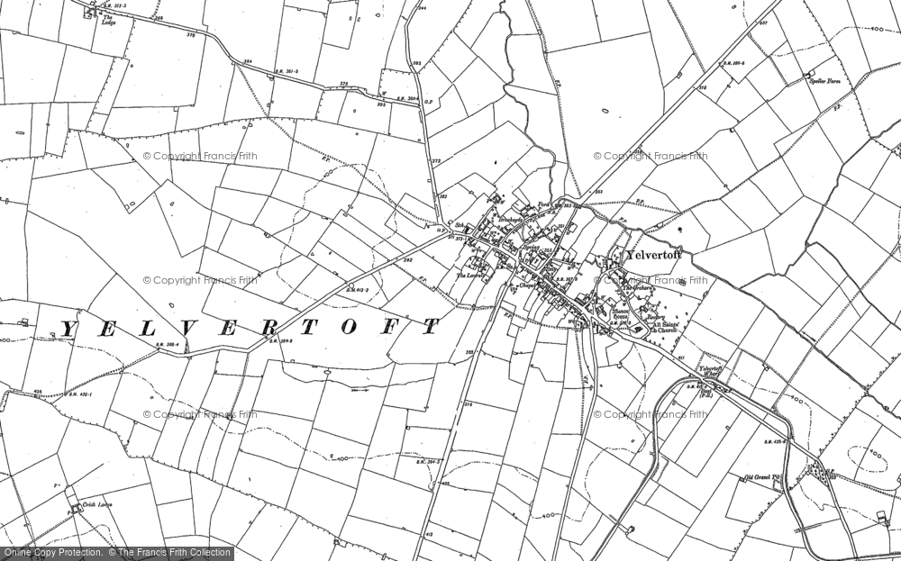 Map of Yelvertoft, 1884