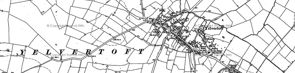 Old map of Yelvertoft in 1884