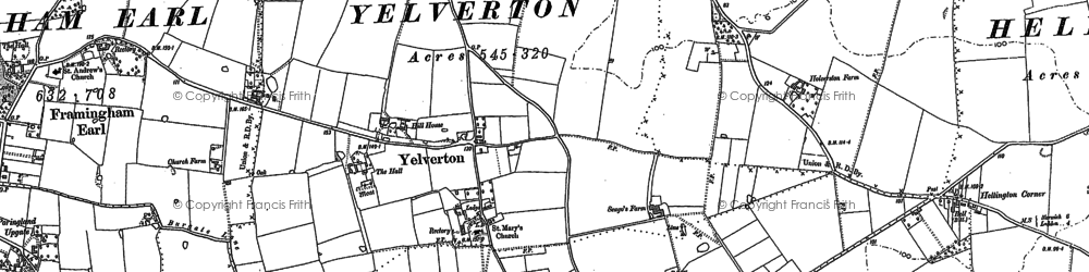 Old map of Yelverton in 1881