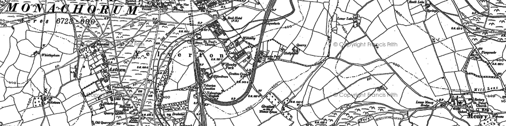 Old map of Yelverton in 1883