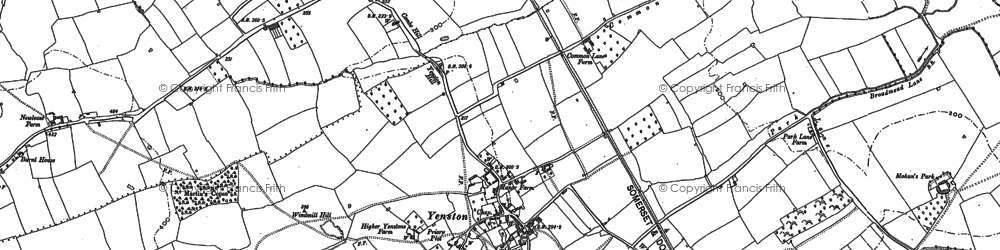 Old map of Yenston in 1885