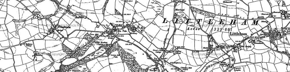 Old map of Yeo Vale in 1884