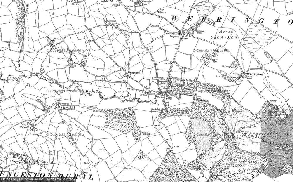 Old Map of Yeolmbridge, 1882 - 1905 in 1882