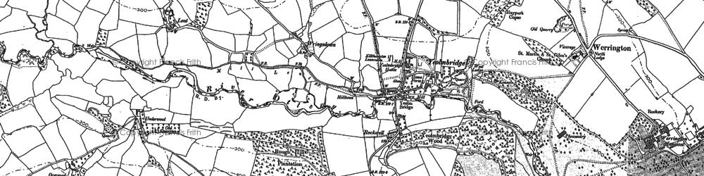 Old map of Yeolm Bridge in 1882
