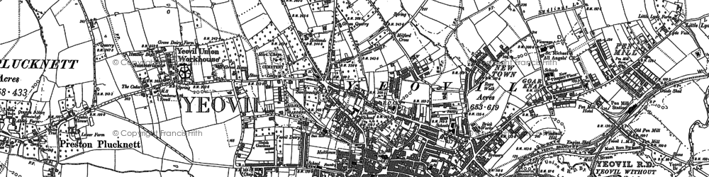 Old map of Aldon in 1886