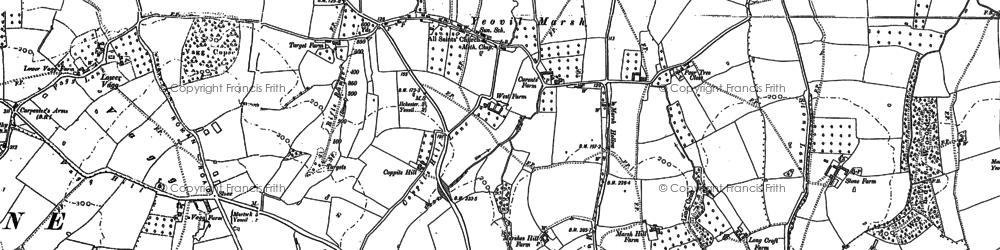Old map of Yeovil Marsh in 1886