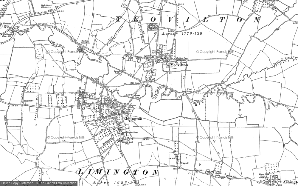 Old Map of Yeovilton, 1885 in 1885