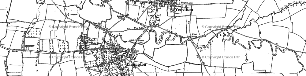 Old map of Yeovilton in 1885