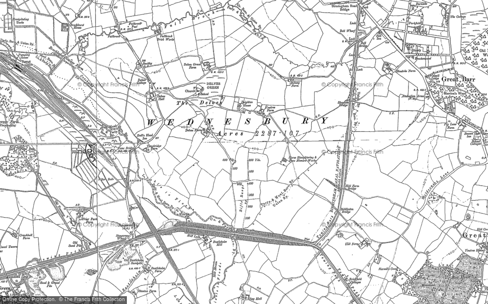 Map of Yew Tree, 1885 - 1902