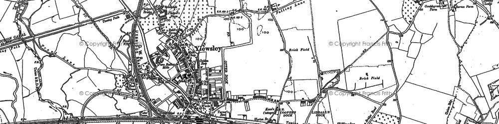 Old map of Yiewsley in 1913