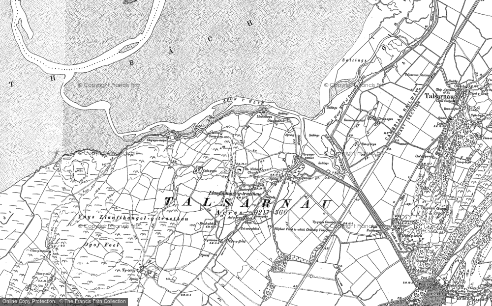 Old Map of Historic Map covering Afon y Glyn in 1887