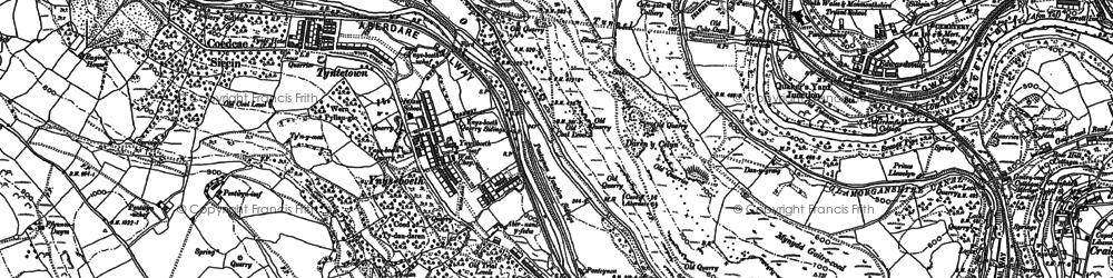 Old map of Ynysboeth in 1898