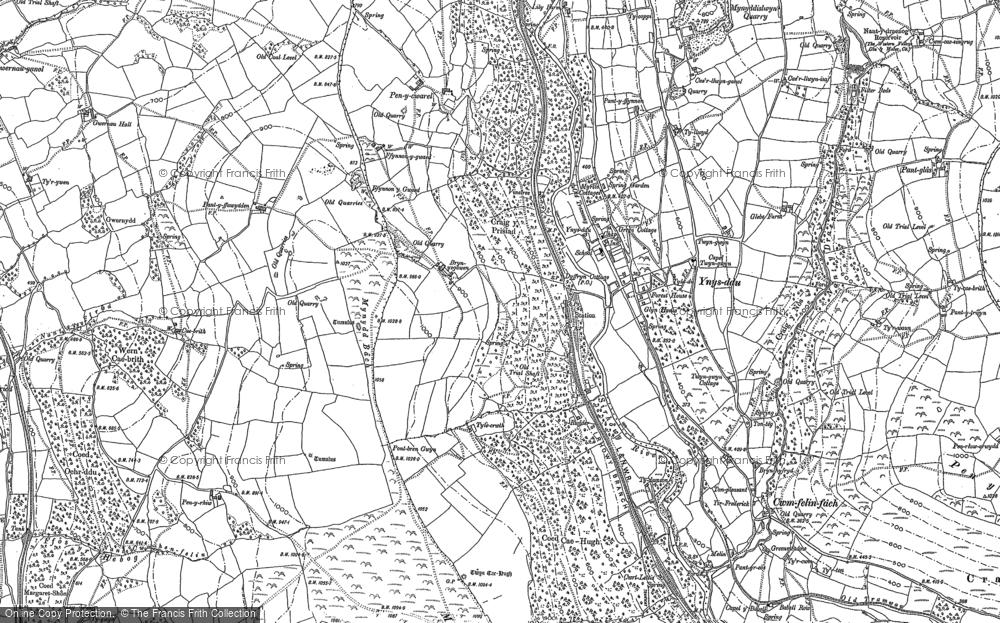 Map of Ynysddu, 1916
