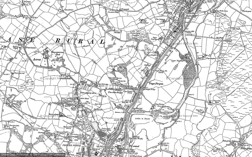 Old Map of Ynysforgan, 1897 in 1897