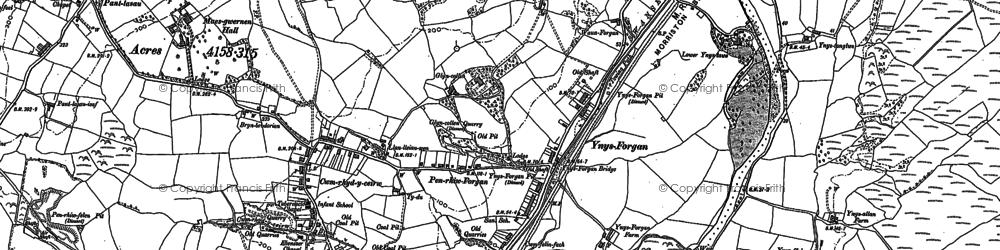 Old map of Ynysforgan in 1897