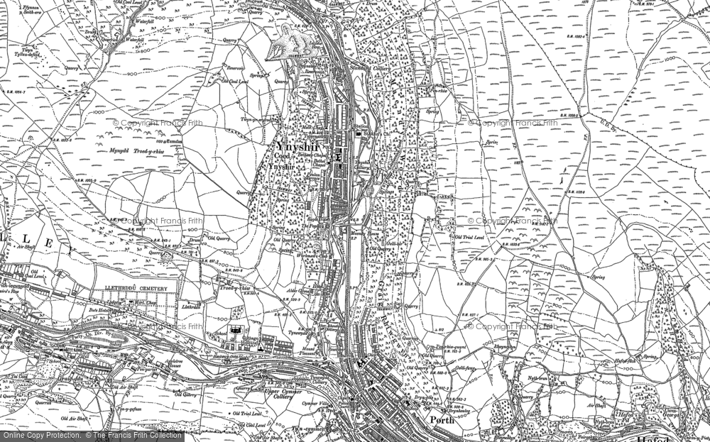 Old Map of Ynyshir, 1898 in 1898