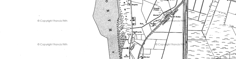 Old map of Ynyslas in 1900