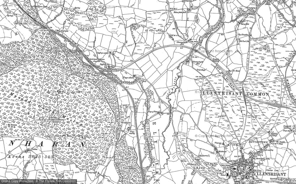 Old Map of Ynysmaerdy, 1897 - 1898 in 1897
