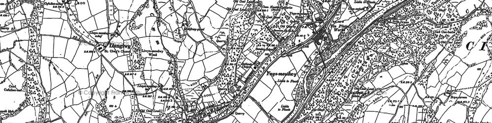 Old map of Ynysmeudwy in 1897