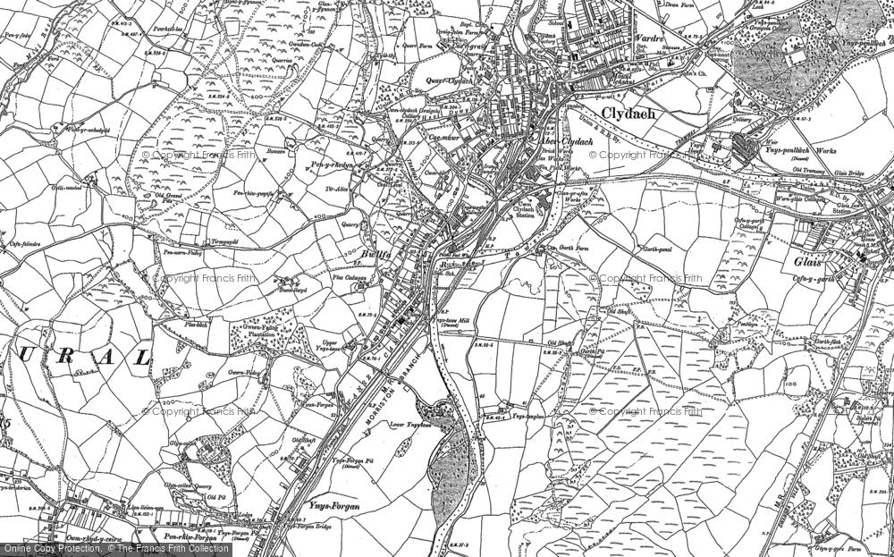 Old Map of Ynystawe, 1897 in 1897