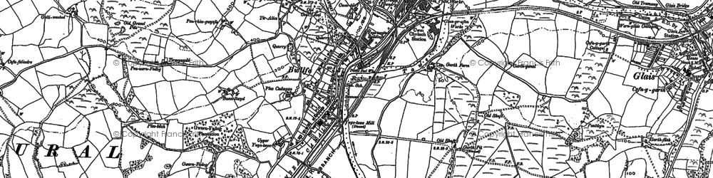 Old map of Ynystawe in 1897