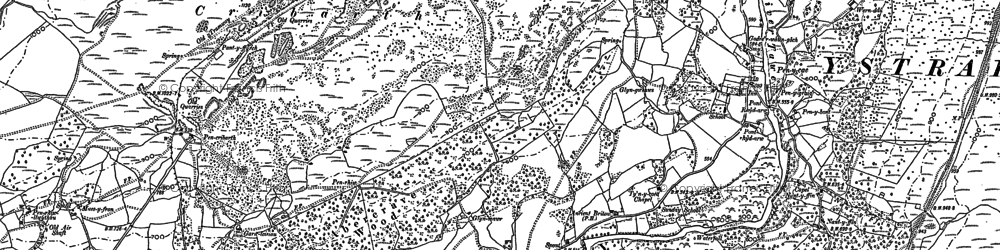Old map of Pen-y-cae in 1884