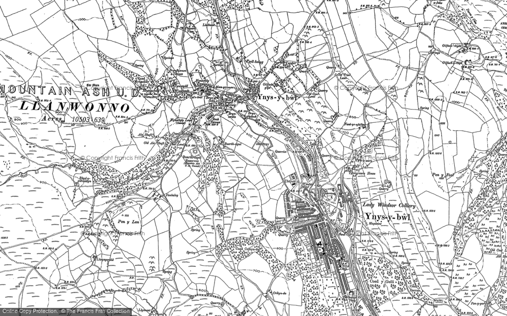 Map of Ynysybwl, 1898