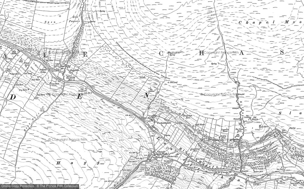 Old Map of Yockenthwaite, 1907 in 1907