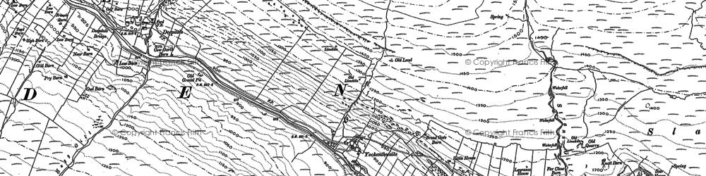 Old map of Yockenthwaite in 1907