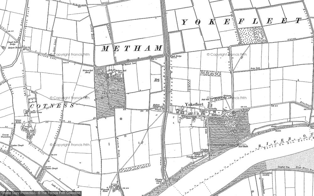 Old Map of Yokefleet, 1888 - 1889 in 1888
