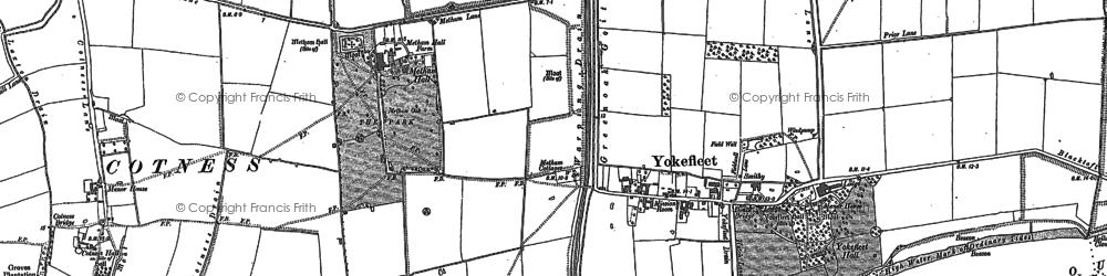 Old map of Yokefleet in 1888