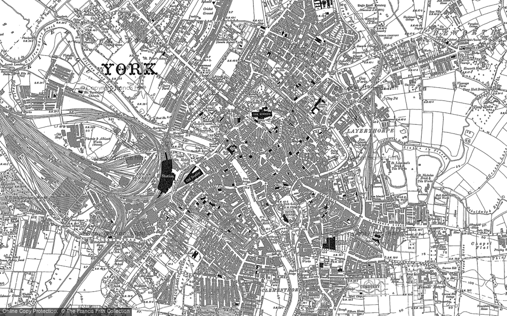 Old Map of York, 1890 in 1890