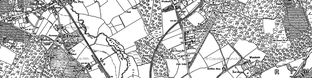 Old map of York Town in 1909