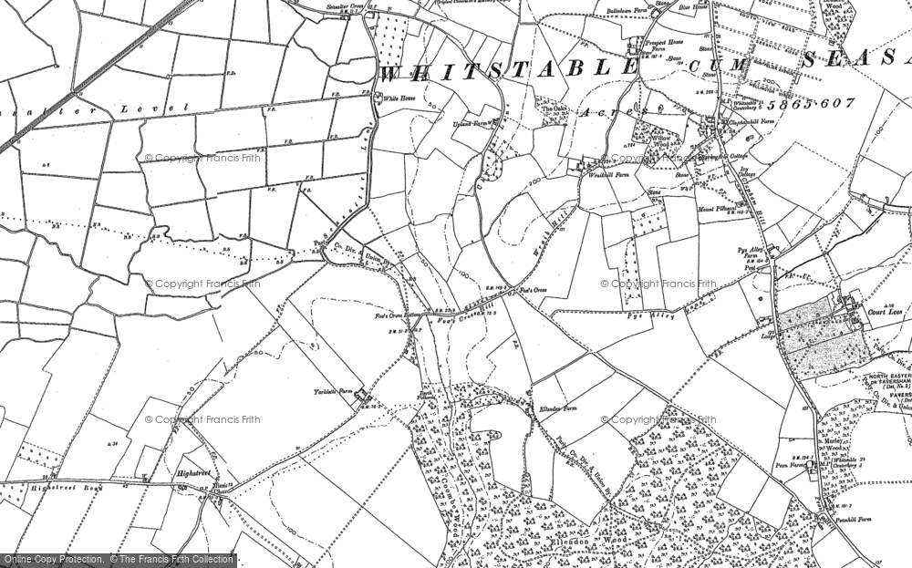 Old Map of Yorkletts, 1896 in 1896