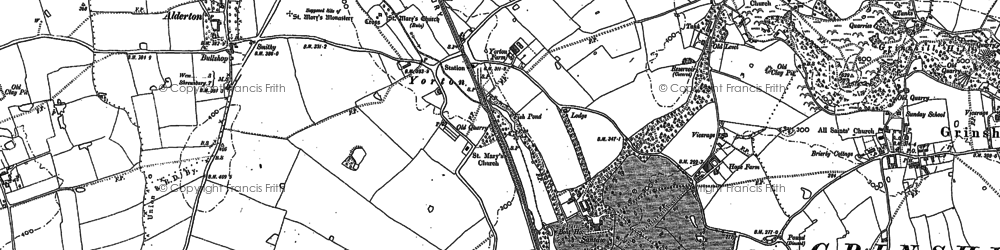 Old map of Yorton in 1880