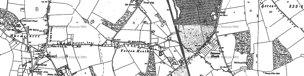 Old map of Lea Hall in 1880