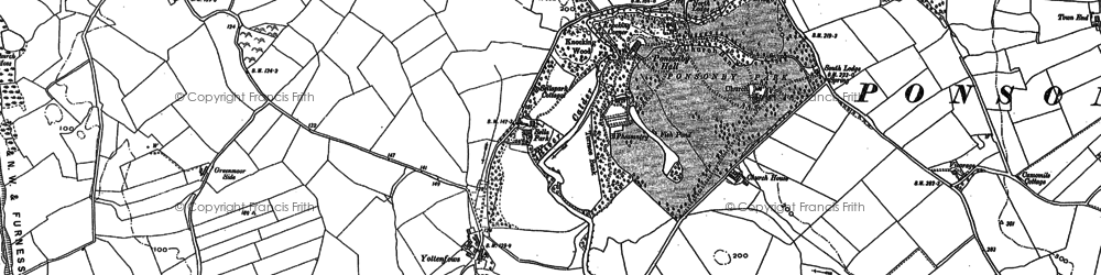 Old map of Yottenfews in 1898